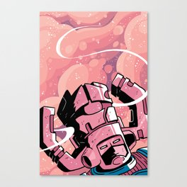 He Eats Planets for breakfast! Canvas Print