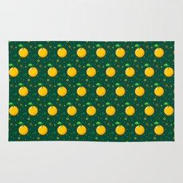 Pixel Oranges - Green Rug