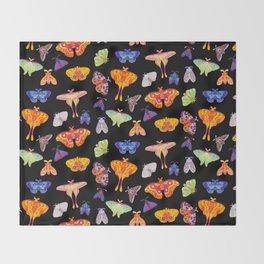 Moth Throw Blanket