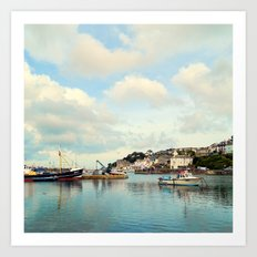 Fishing town Art Print