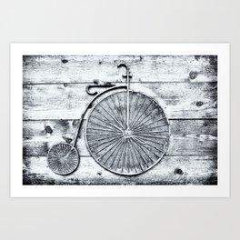 Old Fashioned Bike Art Print