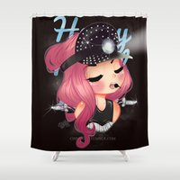 heavy metal Shower Curtains featuring Heavy Metal Lover ♥ 2.0 by Chimi-uzz