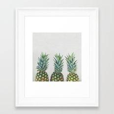 Pineapple Trio Framed Art Print