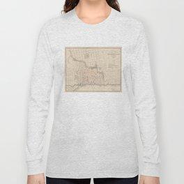 Vintage Map of Jacksonville FL (1878) Long Sleeve T-shirt