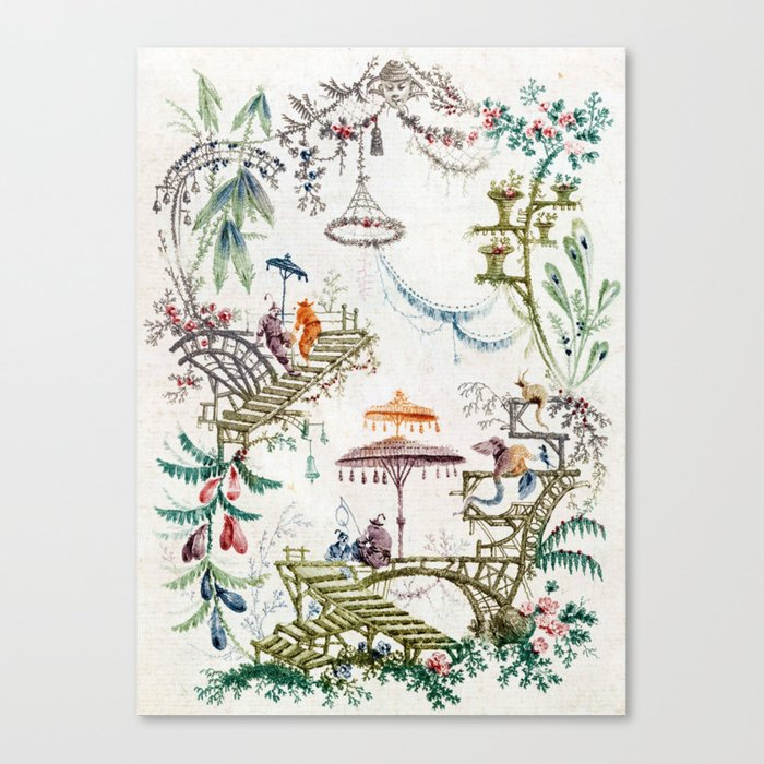 Enchanted Forest Chinoiserie Leinwanddruck