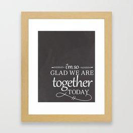 Together Today Framed Art Print