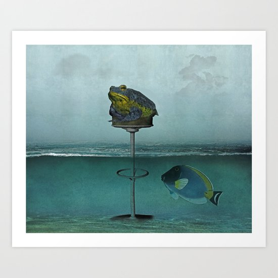 Toadstool Obviously Art Print