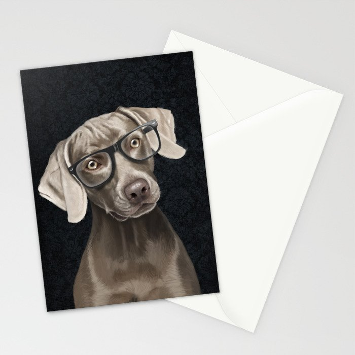 Mr Weimaraner Stationery Cards by sparafuori | Society6