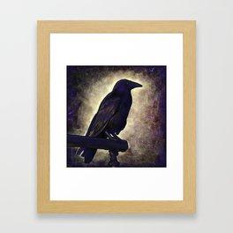 Black Raven of Peace Framed Art Print