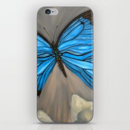 Ulysses Blue Butterfly iPhone Skin