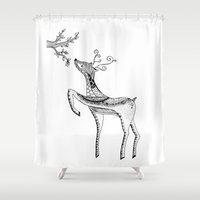 bambi Shower Curtains featuring Bambi by Moran Bazaz
