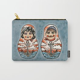 Sailor and his lady (russian dolls) Carry-All Pouch