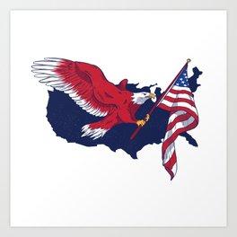 Patriotic American Eagle Art Print
