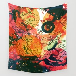 Vintage Pop Abstract Chinese Pattern Wall Tapestry
