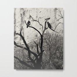 Thought & Memory Metal Print