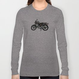 Motorcycle (Red & Black) Long Sleeve T-shirt