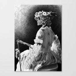 Lady Skeleton Canvas Print