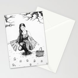 Gathering Mushrooms Stationery Cards