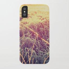 frosty sunrise iPhone Case