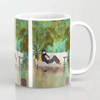 jungle Mugs featuring jungle by Lara Paulussen