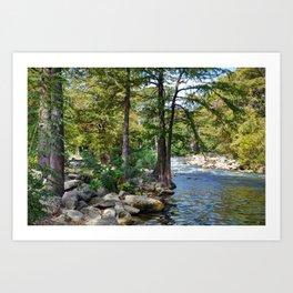Guadalupe River in Gruene Texas Kunstdrucke