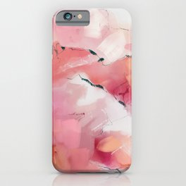 Pink candy mountains iPhone Case