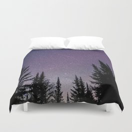 North Woods Starry Night Pines Duvet Cover