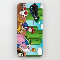 mario bros iPhone & iPod Skins featuring Mario Time (Adventure Bros) by DearSweetAru