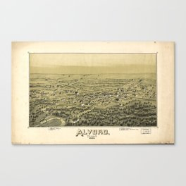 Aerial View of Alvord, Texas (1890) Canvas Print