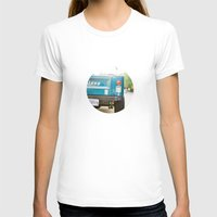jeep T-shirts featuring Jeep Scrambler Summer by Leslee Mitchell