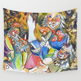 Red Button Dance Wall Tapestry
