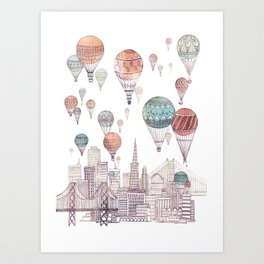 Voyages Over San Francisco ~ Refresh Art Print