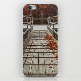 Autumn Lake Boardwalk iPhone Skin
