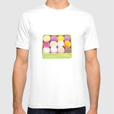 Macarons White MEDIUM Mens Fitted Tee