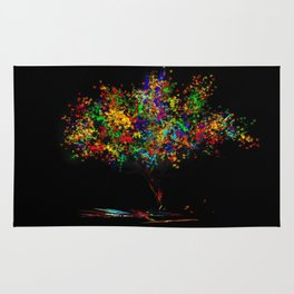 The Most Colorful Tree of the World Rug