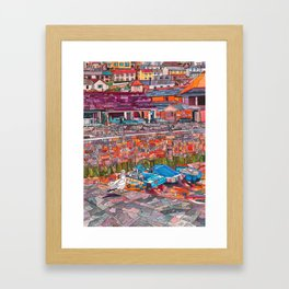Harbour Bright Framed Art Print