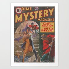 Dime Mystery Magazine – May 1941 Art Print