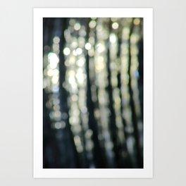 Water Abstract (Bokeh Effect), Royal Canal, Dublin Art Print
