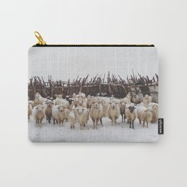 Snowy Sheep Stare Carry-All Pouch