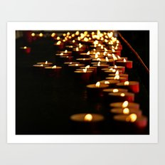 Candles for the Madonna Art Print