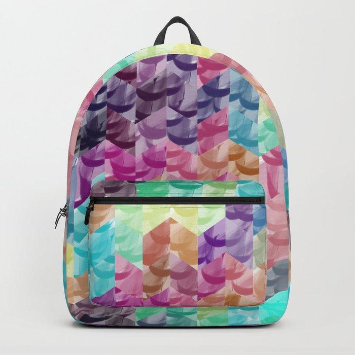 Crystal geometric Background Backpack