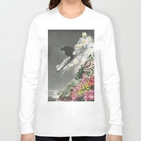 skiing Long Sleeve T-shirts featuring Spring Skiing by Sarah Eisenlohr