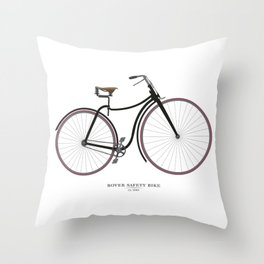 Vintage Rover Safety Bike Throw Pillow