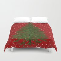 christmas tree Duvet Covers featuring *(Christmas) Tree* by Mr and Mrs Quirynen