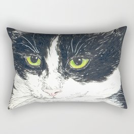 Tuxedo cat Rectangular Pillow