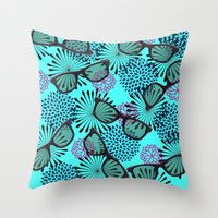 sunglasses Throw Pillows featuring Sunglasses by Mad And Zo Designs