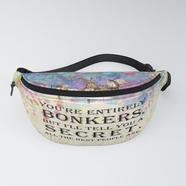 Starry Night Tea Party - Bonkers Quote - Alice In Wonderland Fanny Pack
