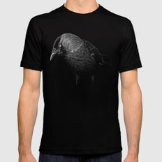 crow SMALL Mens Fitted Tee Black