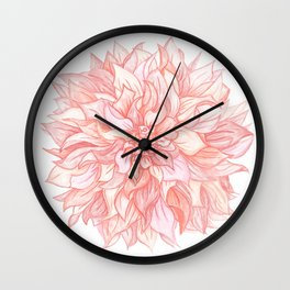 Dreamy Dahlia Wall Clock