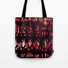 Wall of Flame Tote Bag